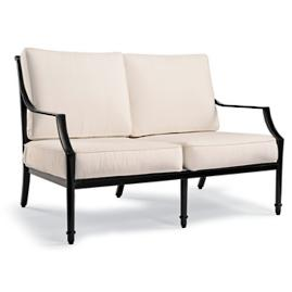 Grayson Loveseat with Cushions in Black Finish