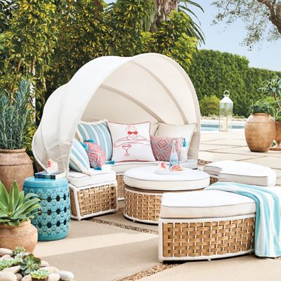 Baleares Daybed In Latte Finish Frontgate, Baleares Daybed Outdoor Furniture Cover