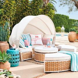 Baleares Daybed in Latte Finish