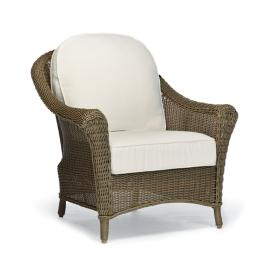 Charleston Lounge Chair with Cushions in Weathered Pebble