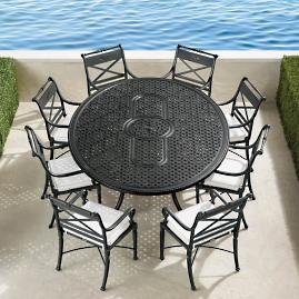 Carlisle 9-pc. Oval Dining Set in Onyx Finish