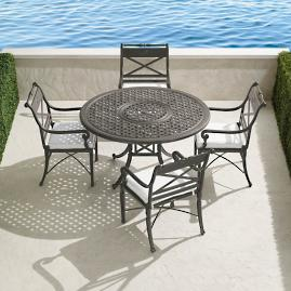 Carlisle 5-pc. Round Dining Set in Slate Finish