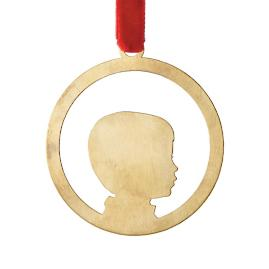 Le Papier Studio One Silhouette Ornament