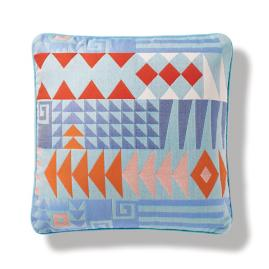 Naxos Puzzle Indoor/Outdoor Pillow in Aruba
