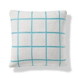 Renzo Grid Indoor/Outdoor Pillow in Aruba