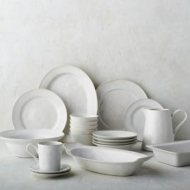 Costa Nova Astoria Dinnerware in White Finish