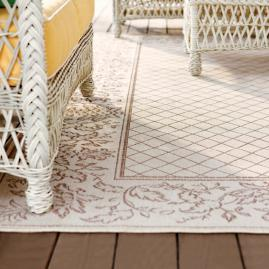 Pineapple Border Outdoor Rug