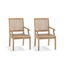 Cassara Dining Arm Chairs in Weathered Finish, Set