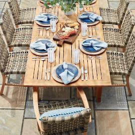 Isola Dining Collection in Natural Finish