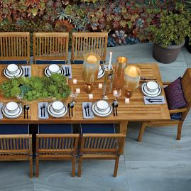 Cassara 11-pc. Estate Expandable Dining Set in Natural