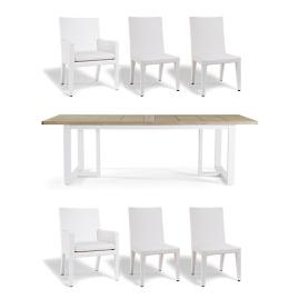 Pierce Dining in White Finish