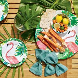Flamingo Melamine Dinnerware and Serveware