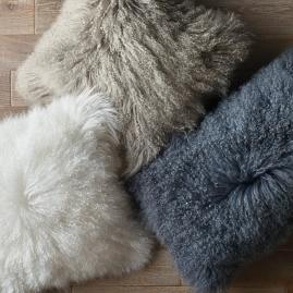 Mongolian Fur Pillow Collection