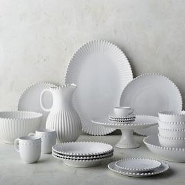 Costa Nova Pearl Dinnerware in White