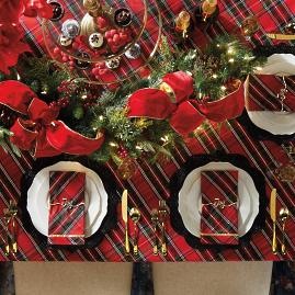 Holiday Plaid Table Linens