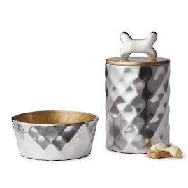Astor Pet Bowl & Treat Canister