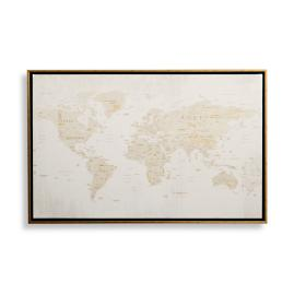 Heirloom Gold Leafed Magnetic Map