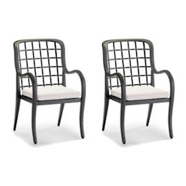 Brentwood Dining Arm Chairs, Set of Two