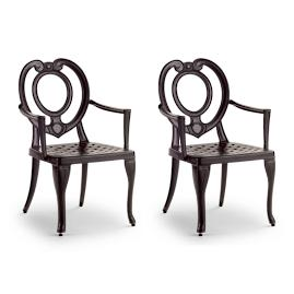 Catalina Dining Arm Chairs, Set of Two