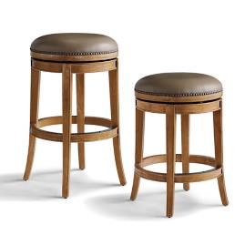 Henning Backless Swivel Bar and Counter Stools