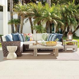 Conover Modular Wicker Seating