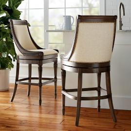 "Kent Swivel Bar Height Bar Stool (30""H seat)"