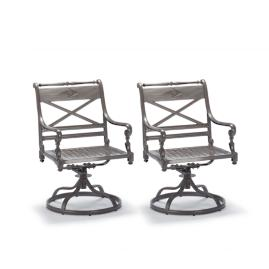 Carlisle Set of Two Swivel Dining Arm Chairs