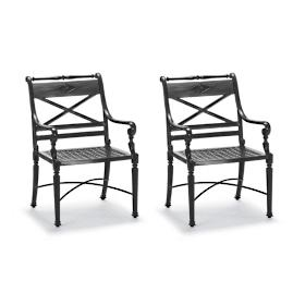 Carlisle Dining Arm Chairs, in Onyx Finish, Set