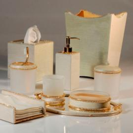 Audrey Gold Bath Accessories by Mike & Ally