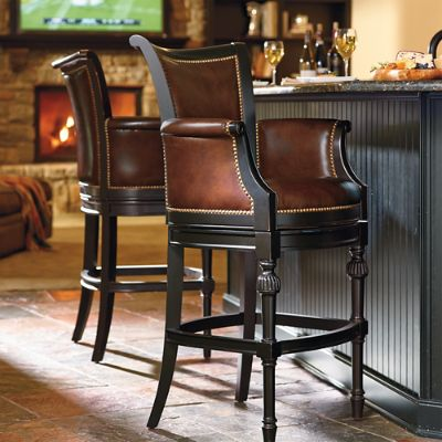 Astonishing Chesterfield Swivel Bar And Counter Stools Frontgate Short Links Chair Design For Home Short Linksinfo