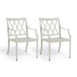 Grayson Dining Arm Chairs in White Finish, Set