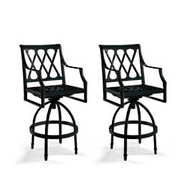 Grayson Set of Two Swivel Bar Stools in