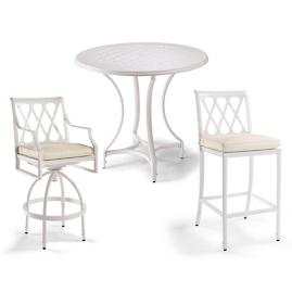 Grayson Bar-height Seating in White Finish