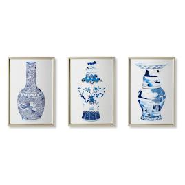 Watercolor Blue Ming Giclée Prints