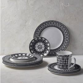 Caskata Casablanca Rimmed Dinner Plates, Set of Four
