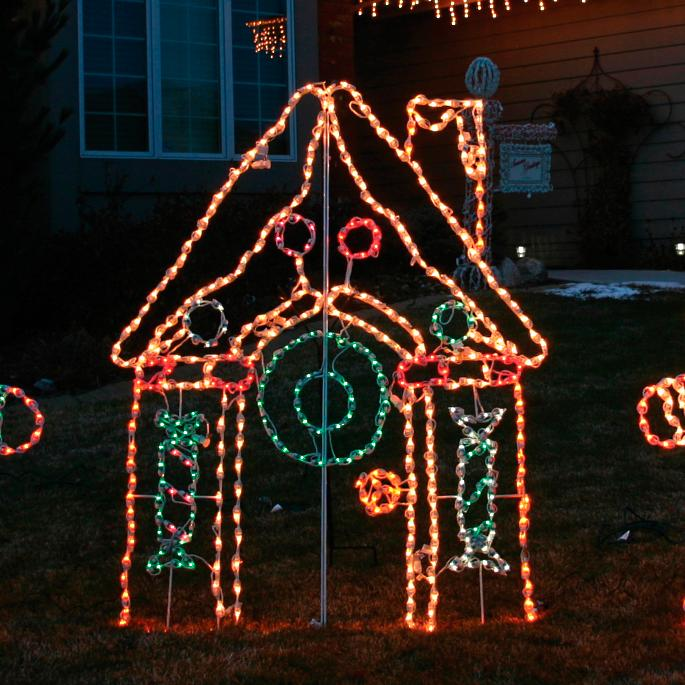 Lighted Outdoor Gingerbread House Frontgate