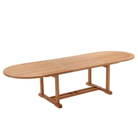 Bristol Large Oval Teak Extending Dining Table By Gloster Frontgate - Teak oval extension dining table