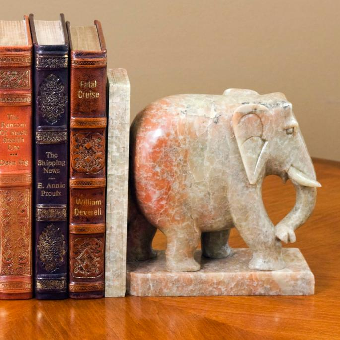 Ippudo Elephant Bookends | Frontgate