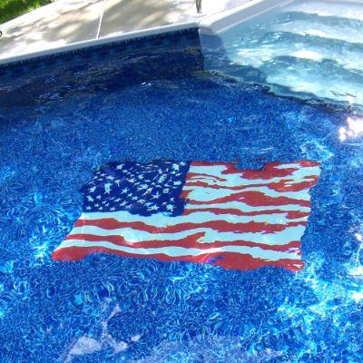 American Flag Pool Mat Frontgate
