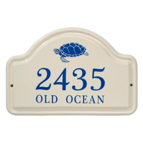 Sea Turtle Ceramic Address Plaque Frontgate