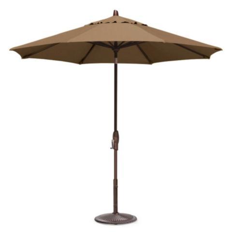 Crank Tilt Market Umbrella In Sunbrella® Cocoa With Bronze Frame