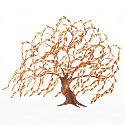 Copper Willow Tree Wall Art | Frontgate