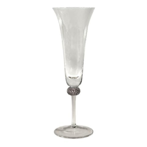 Princess Champagne Flute With Silver Crystals Frontgate
