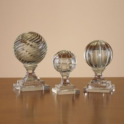 Set Of Three Crystal Newel Port Finials Frontgate