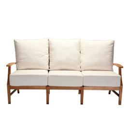 Croquet Teak Sofa with Two Pillows and Cushions
