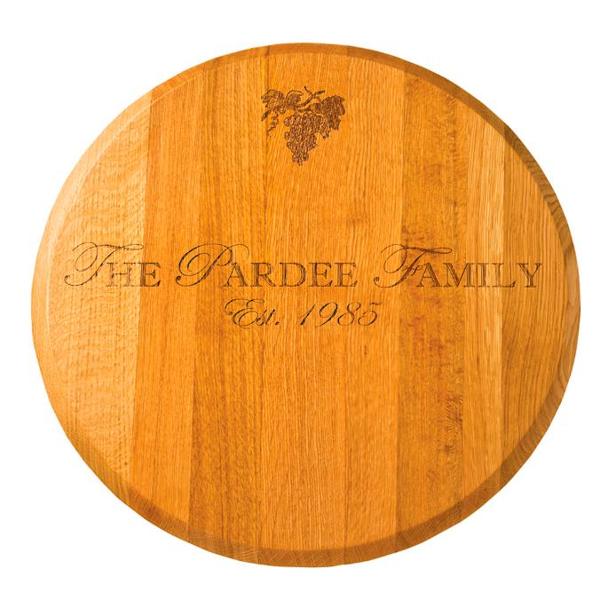 Personalized Oak Lazy Susan Frontgate