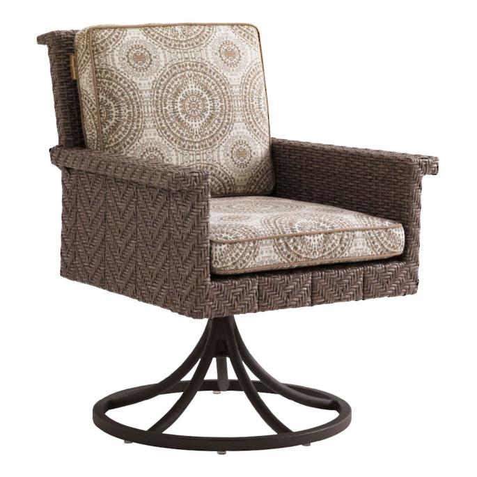Tommy Bahama Blue Olive Swivel Rocker Dining Chair Frontgate