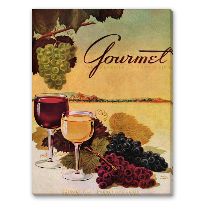 Gourmet Wine And Grapes Wall Art Frontgate