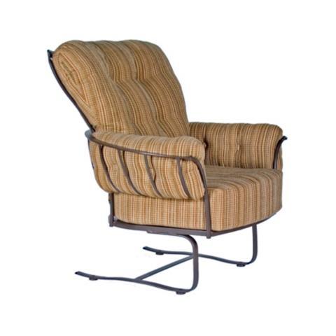 Monterra Spring Base Club Lounge Chair With Cushion