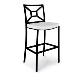 Milano Aluminum High Dining Chair